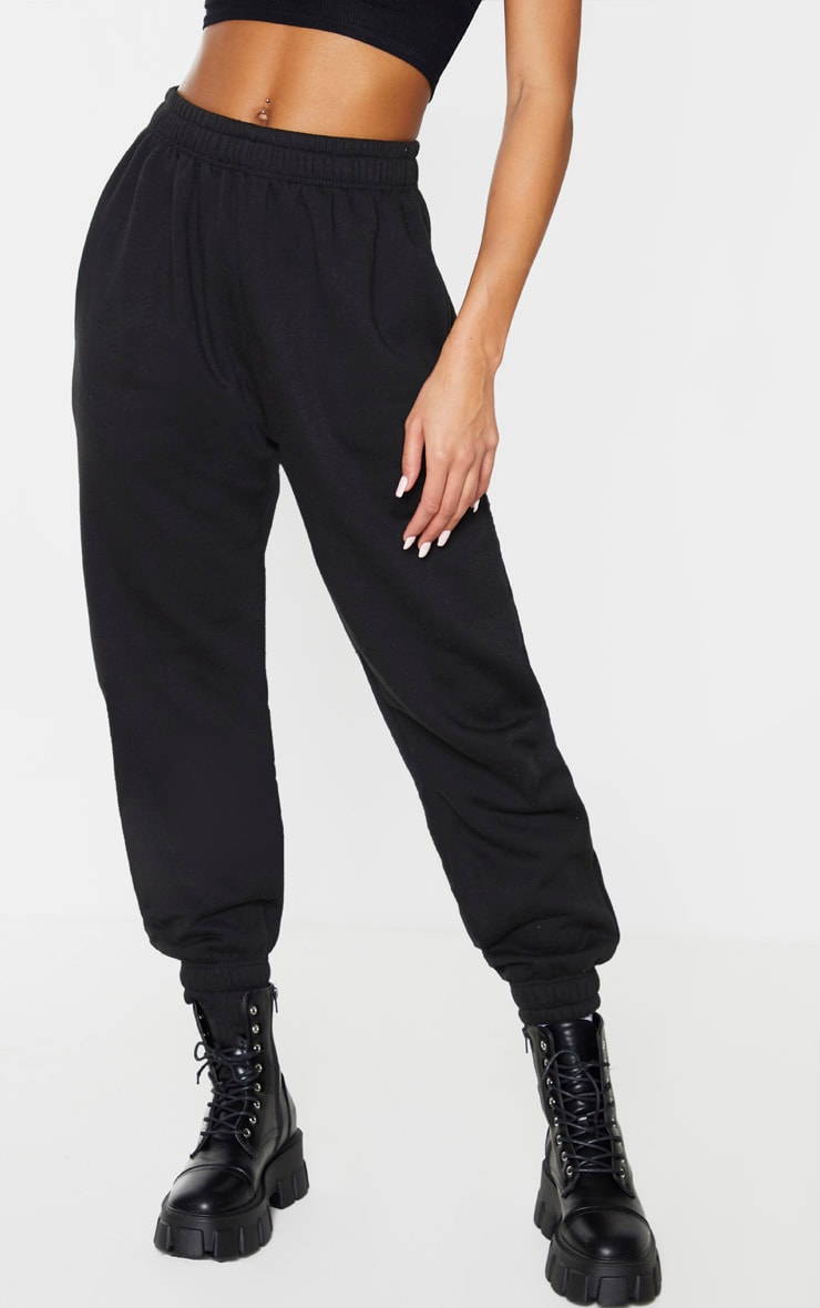 Black Angel Diamante Slogan Joggers 2