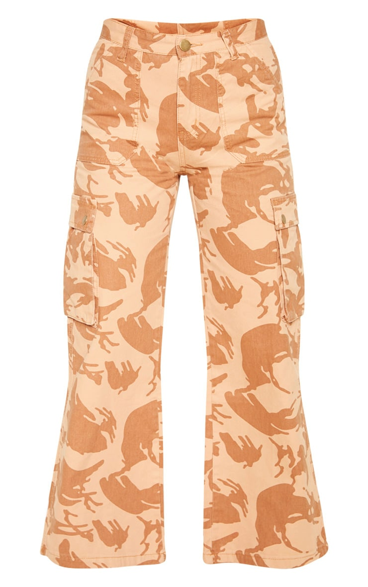 Camo Cargo Baggy Wide Leg Cropped Jeans 3