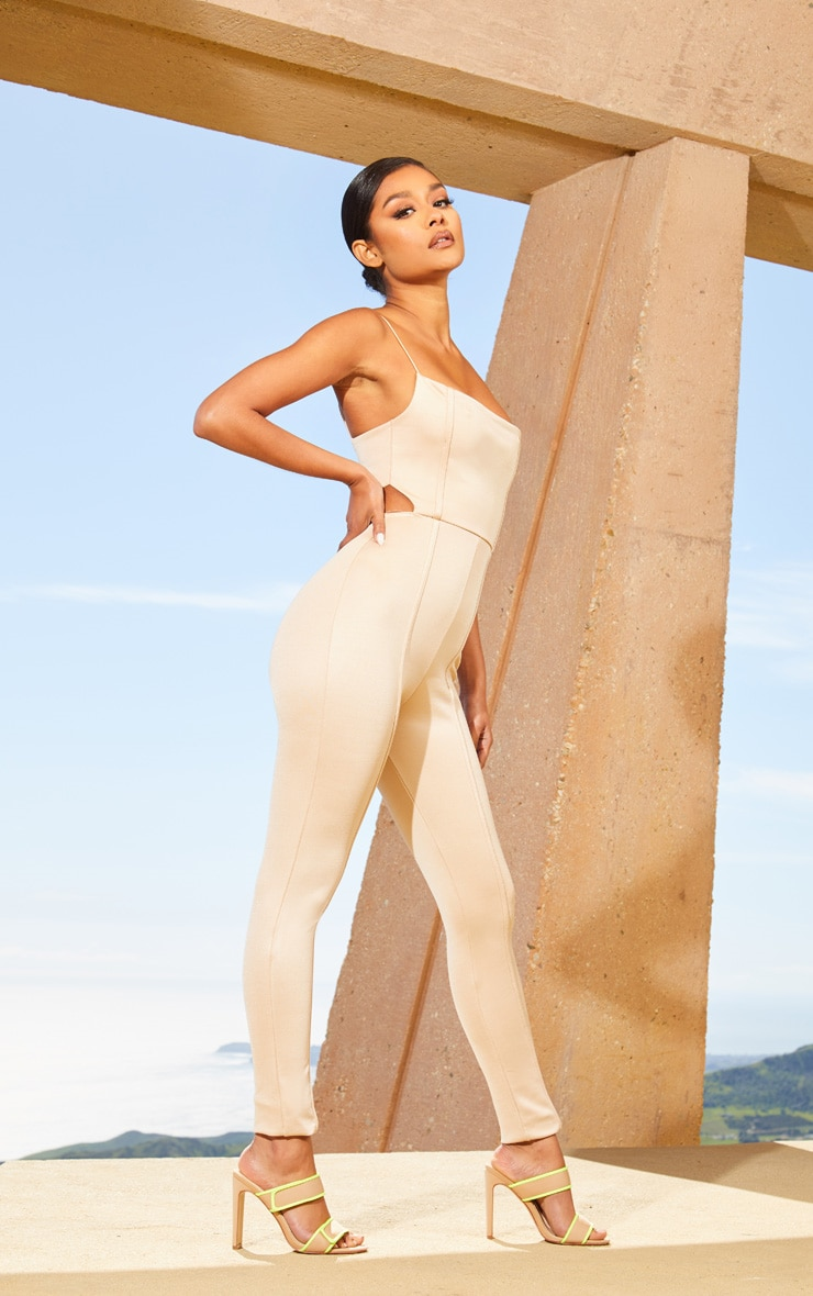 Nude Second Skin Cut Out Side Jumpsuit 1