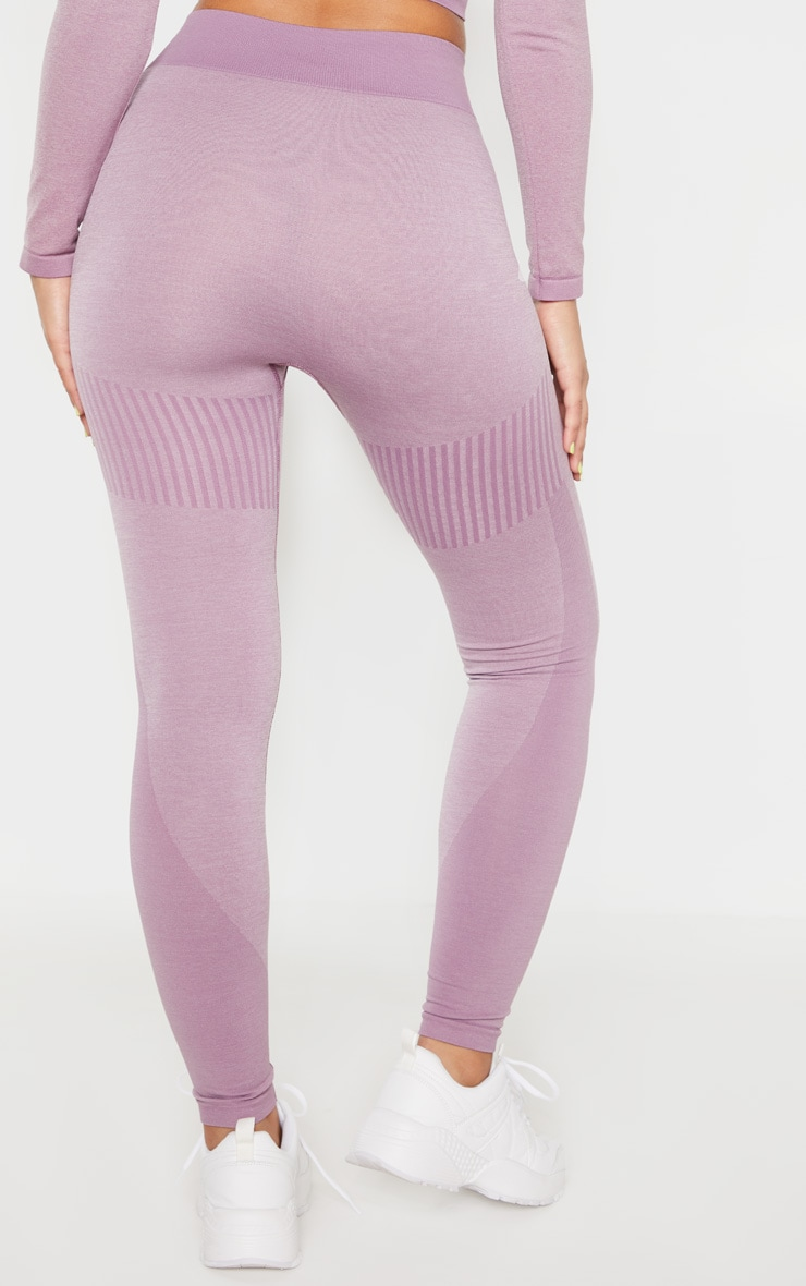 Lilac Seamless Stripe Detail Legging 4