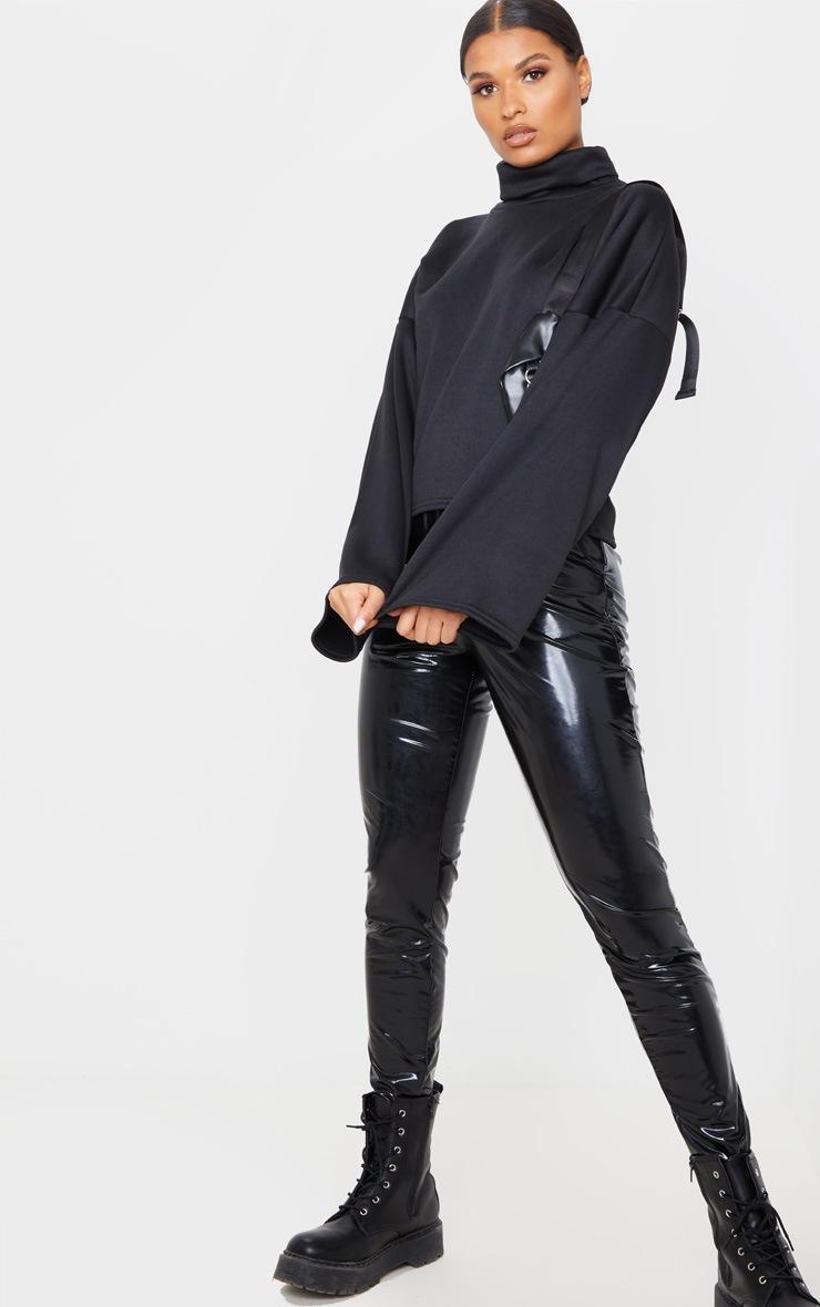 Black Fleece Roll Neck Sweater 4