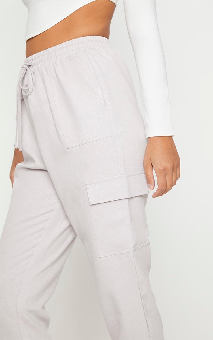 Grey Diya Cargo Pocket Casual Trouser 5