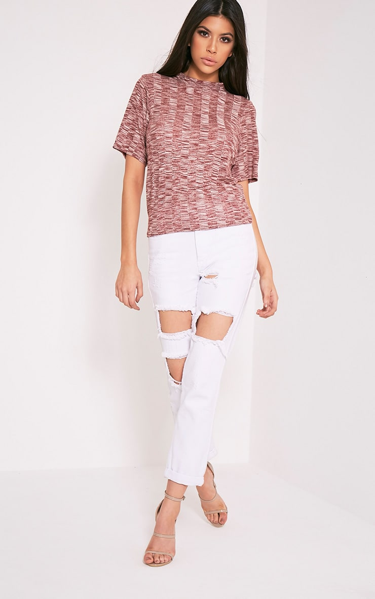 Laylae Red Fine Knit Short Sleeve Top 10