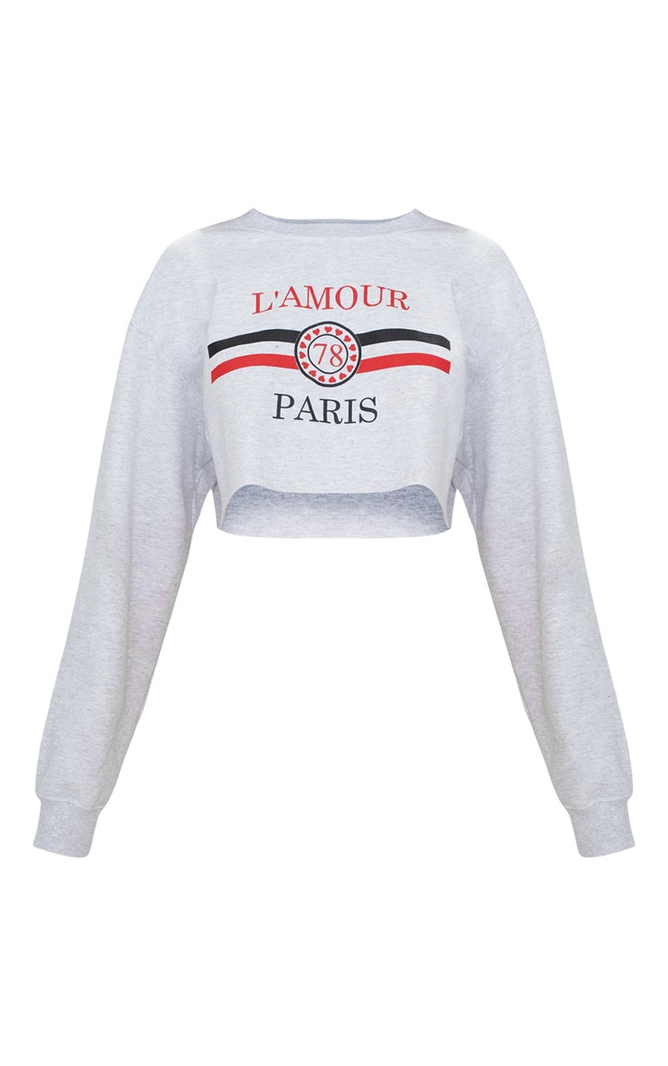 Grey Lamour Cropped Sweater  3