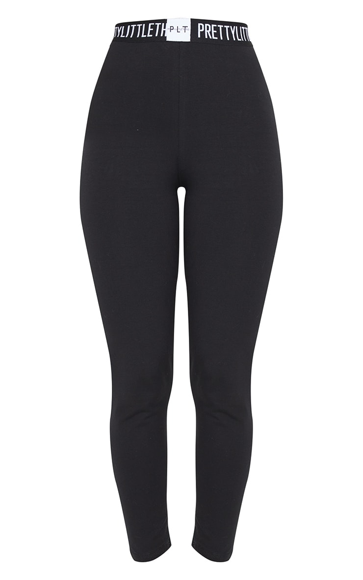 PRETTYLITTLETHING Black High Waisted Legging 5