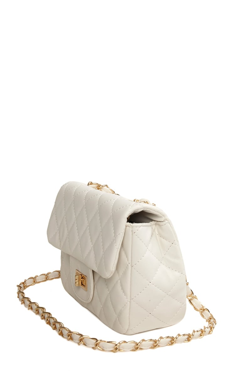 Corena White Quilted Bag 4
