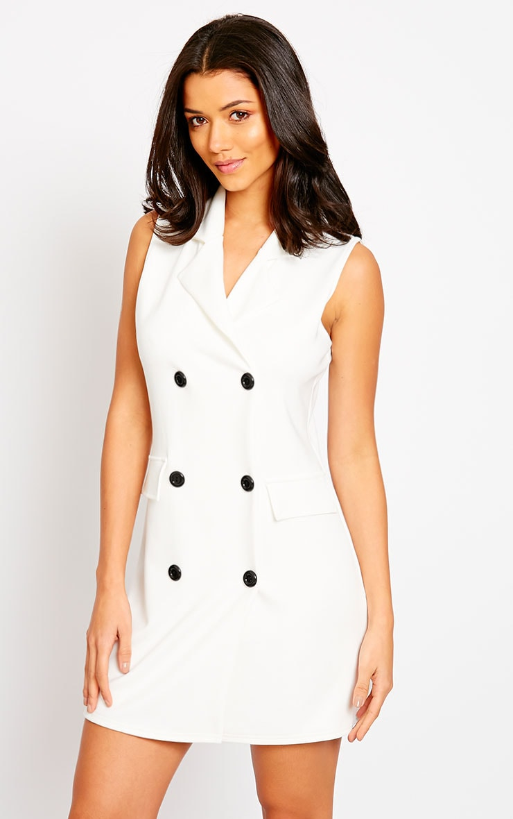 Thea Cream Blazer Dress 4
