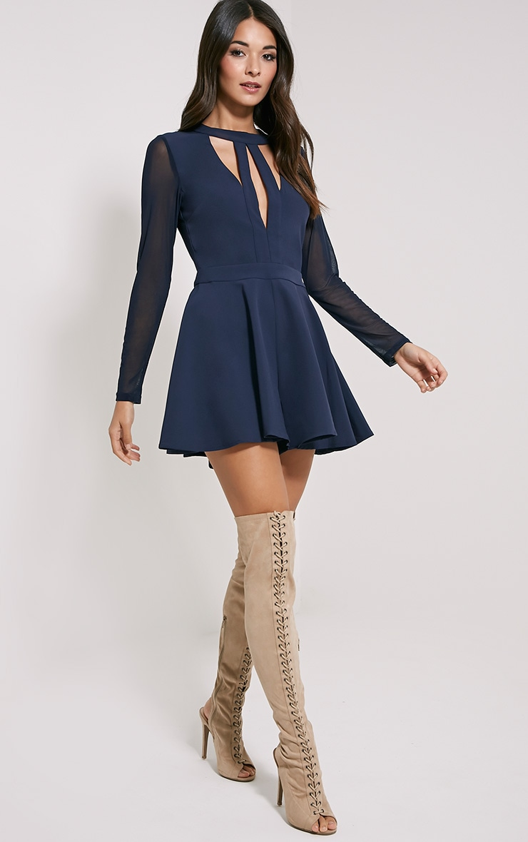 Darleen Navy Cut Out Detail Playsuit 1