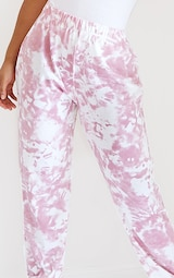Pink Tie Dye Casual Joggers 4