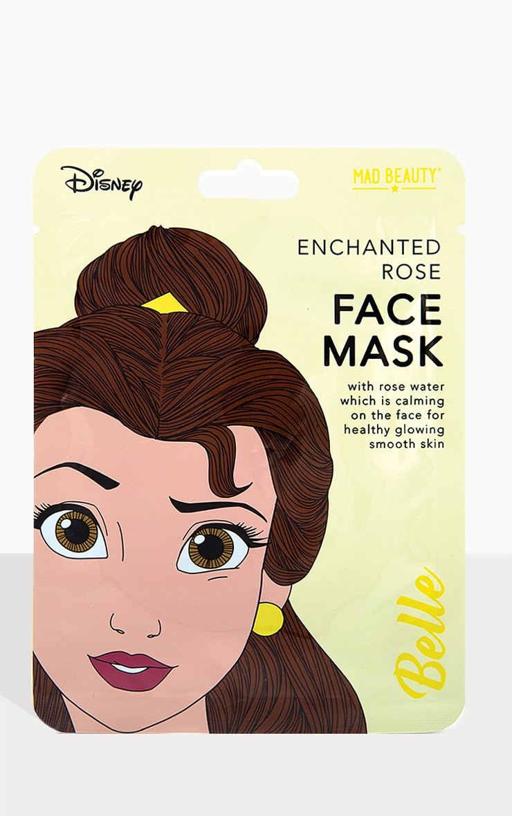 Disney Princesses Belle Enchanted Rose Face Mask 1