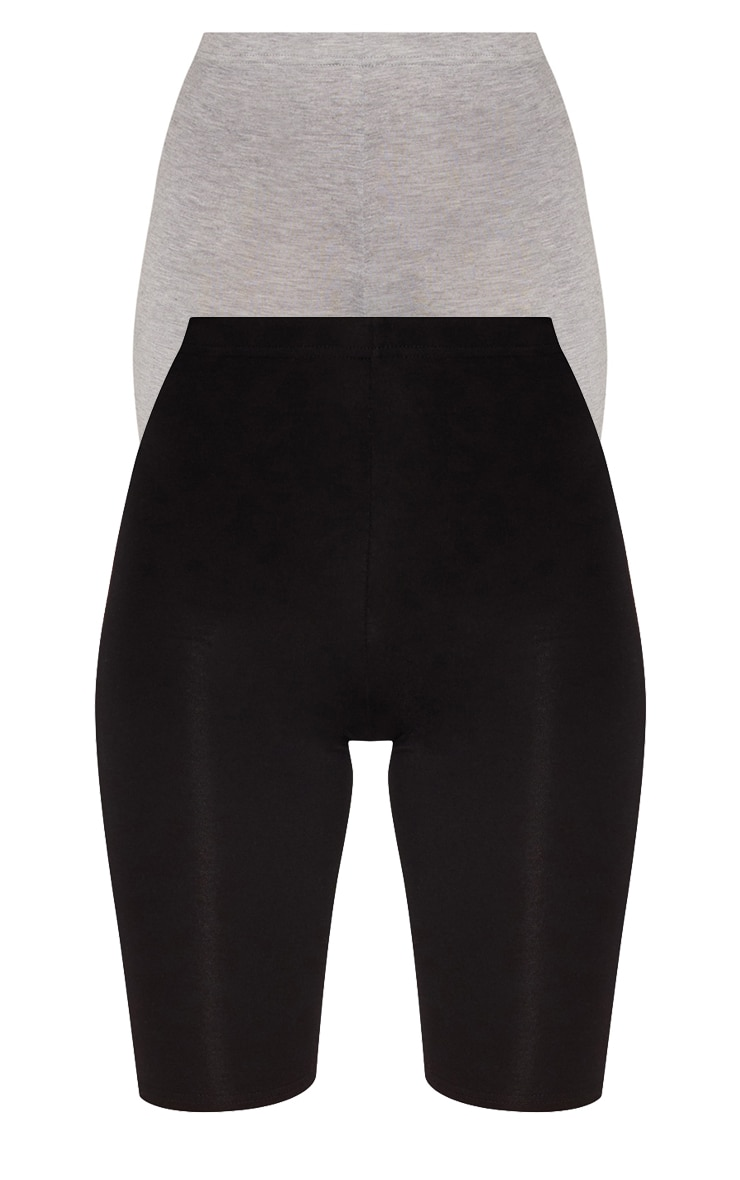 Black and Grey Basic Cycle Short 2 Pack 3