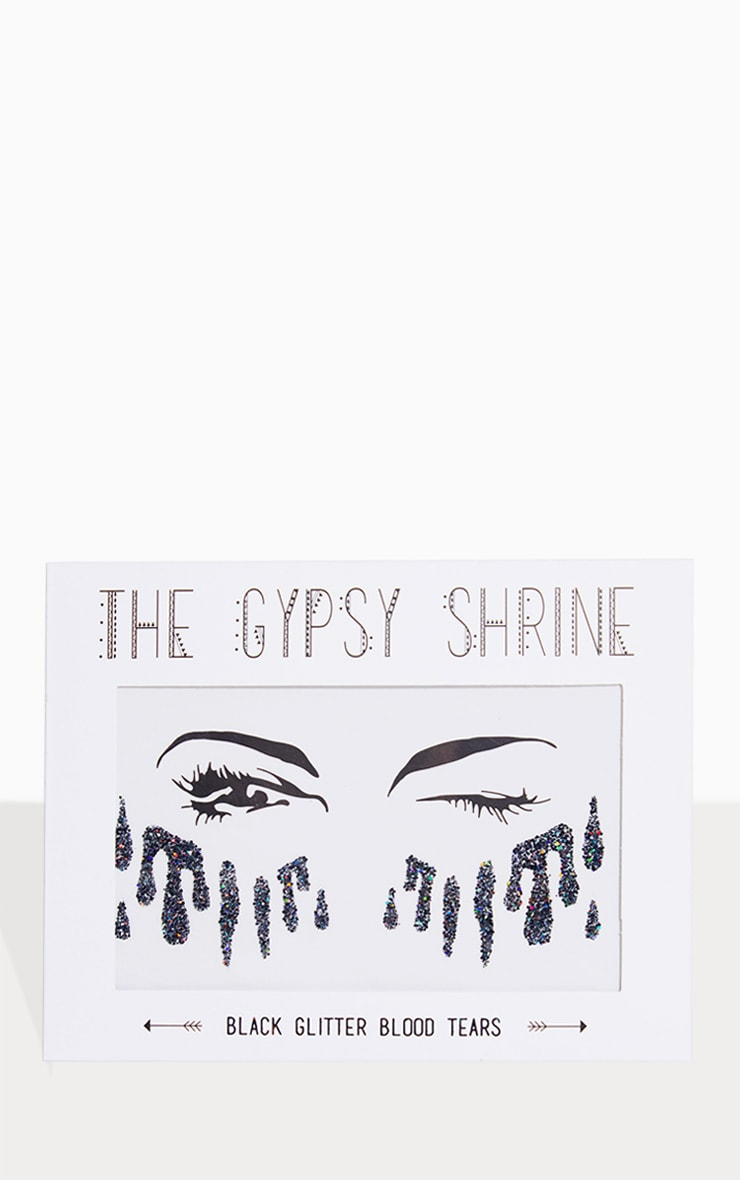 The Gypsy Shrine Black Glitter Sticker 2