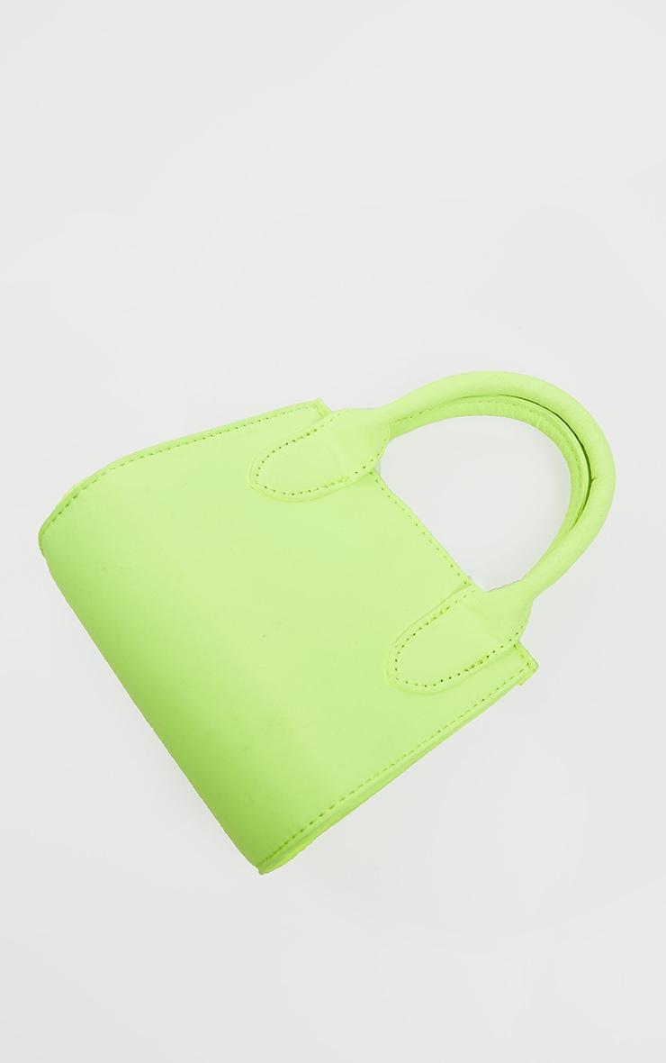Mini-sac en nylon vert citron fluo à anse 4