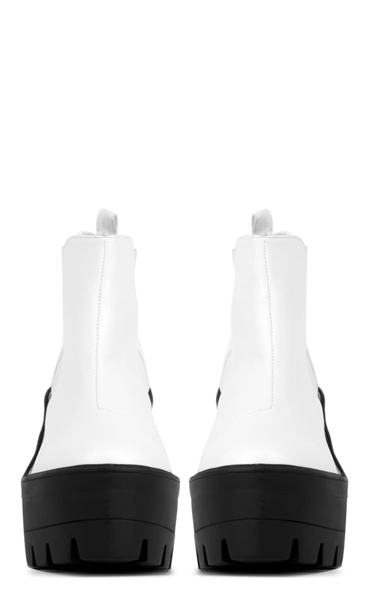 Coco Monochrome Leather Chunky Chelsea Boot  4