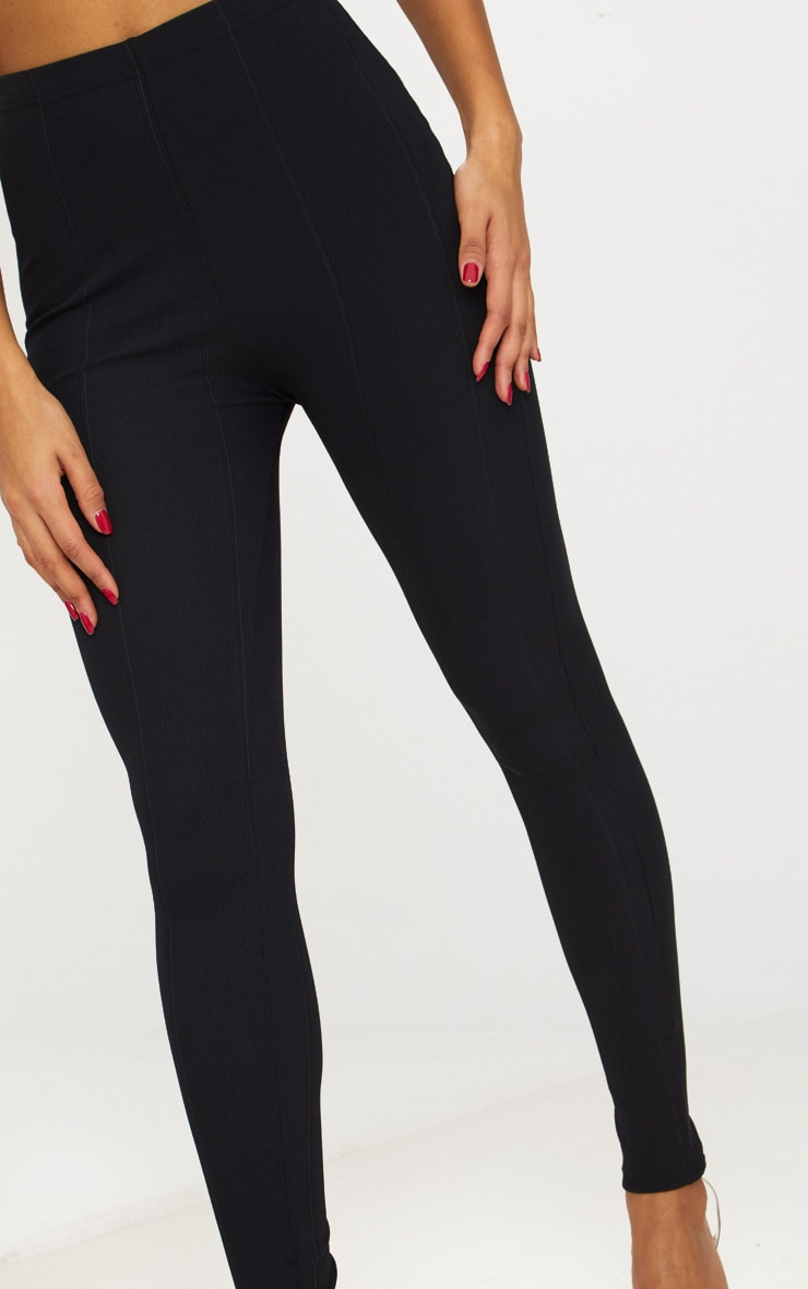 Black High Waisted Bandage Leggings 4