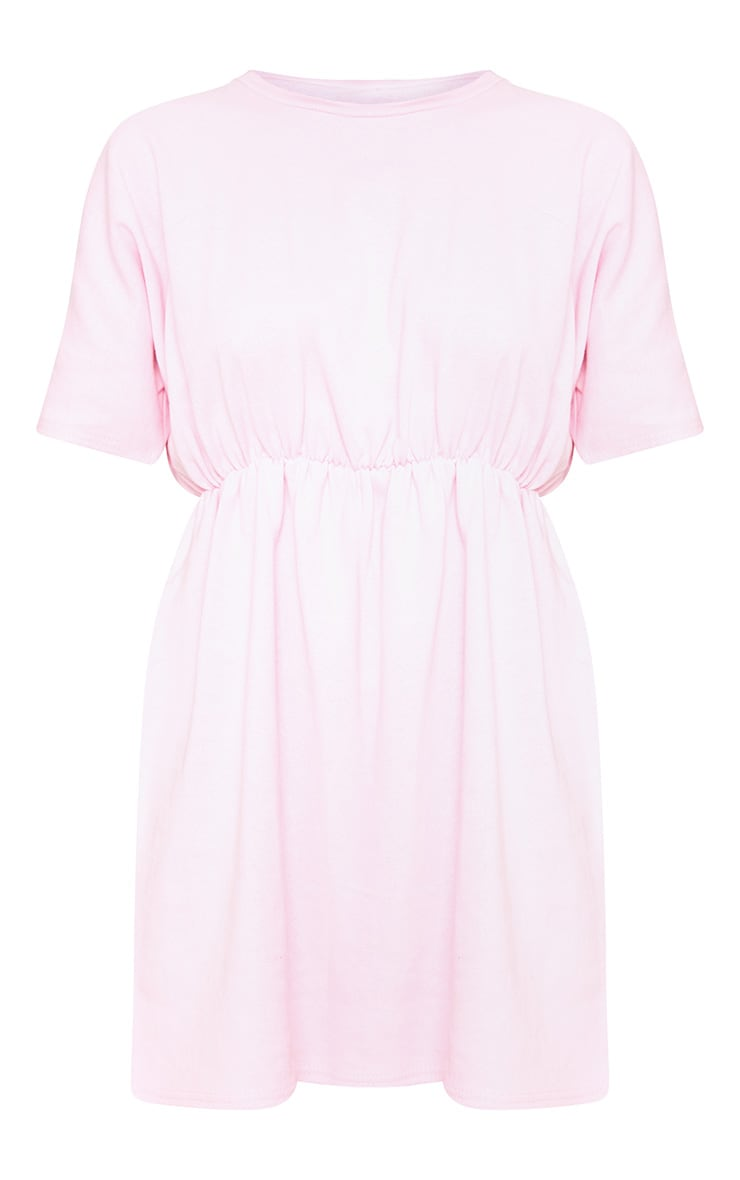 Baby Pink Waist Detail Sweater Dress  3