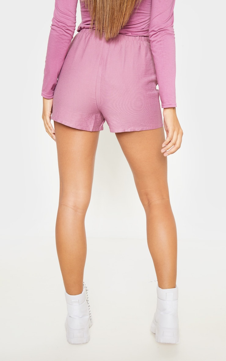 Rose Woven Pocket Front Drawstring Short  4