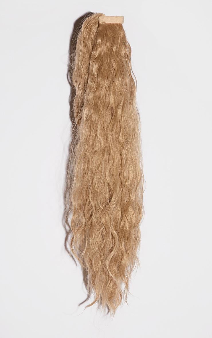 LullaBellz Grande Lengths 26 Textured Wave Wraparound Pony Golden Blonde 5