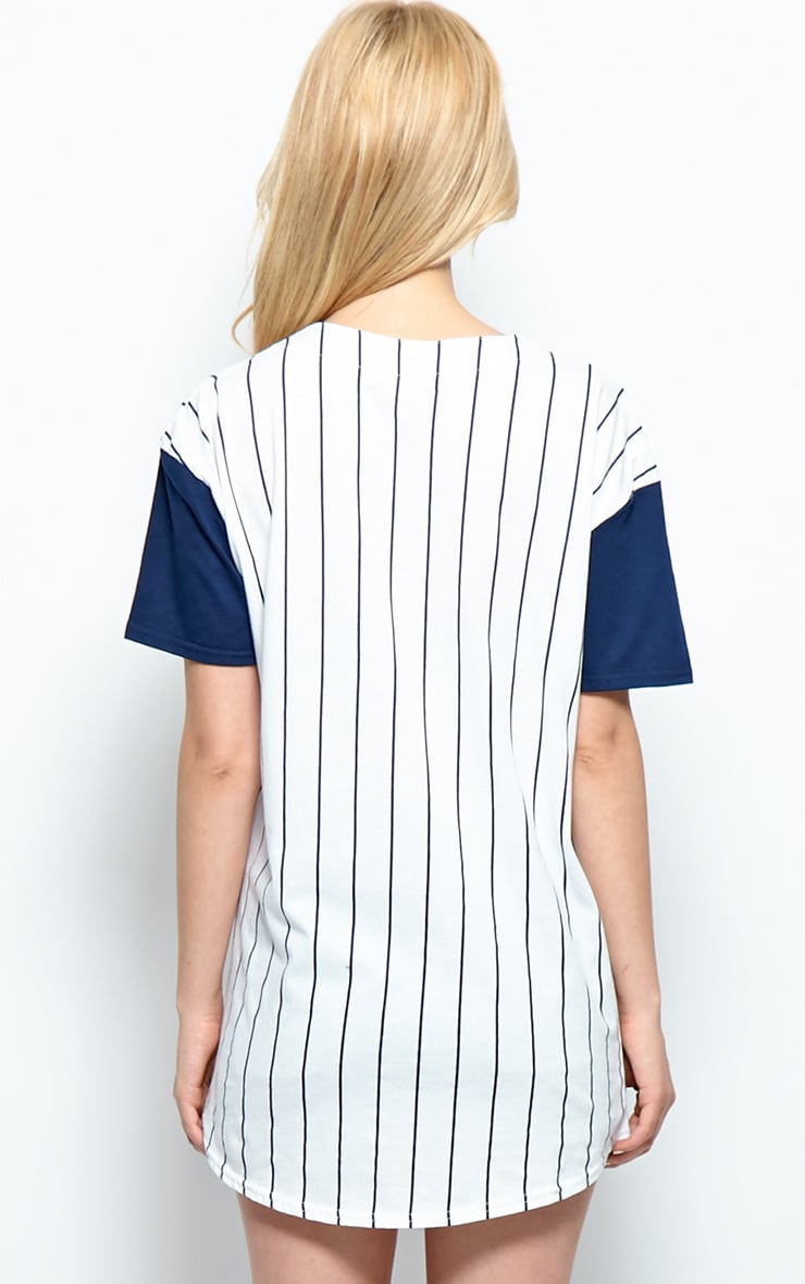 Winston Navy & White 'Player' Baseball T-Shirt 2