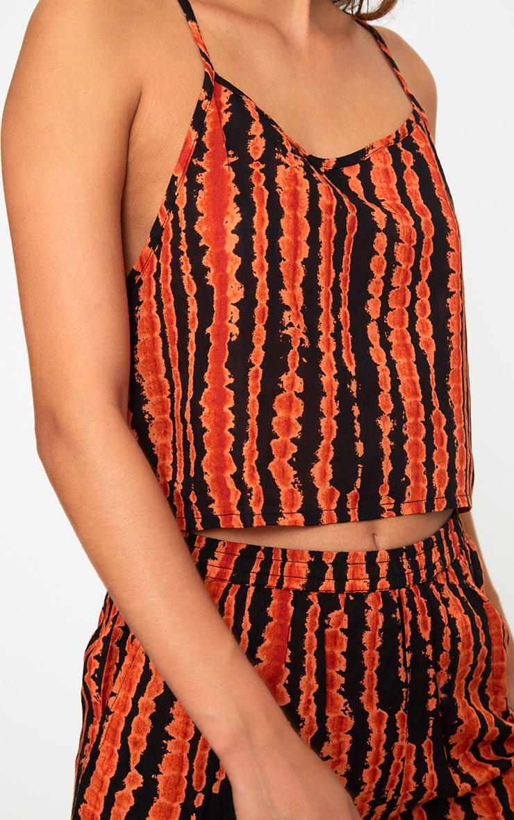 Orange Tie Dye Strappy Crop Top  5