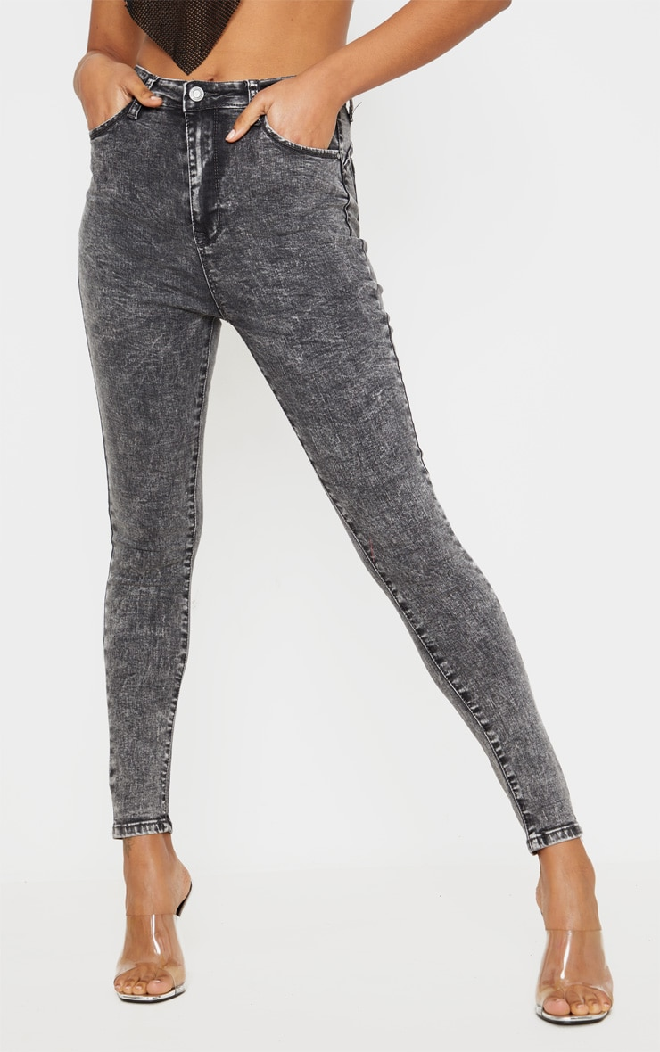 Acid Black Bum Shape Jeans 2