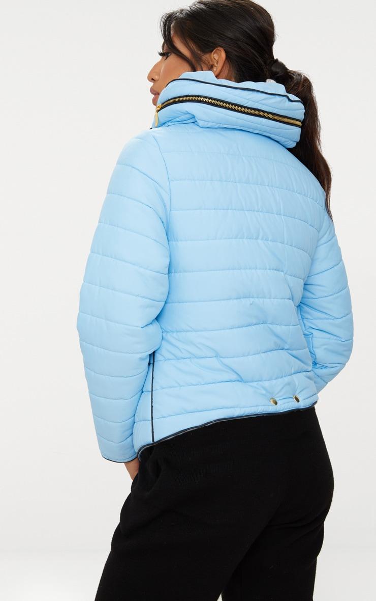 Mara Baby Blue Puffer Jacket 2