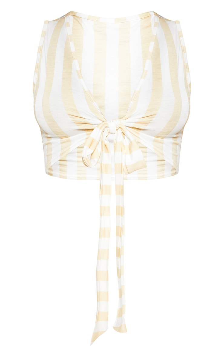 Nude Stripe Tie Front Bralet 3