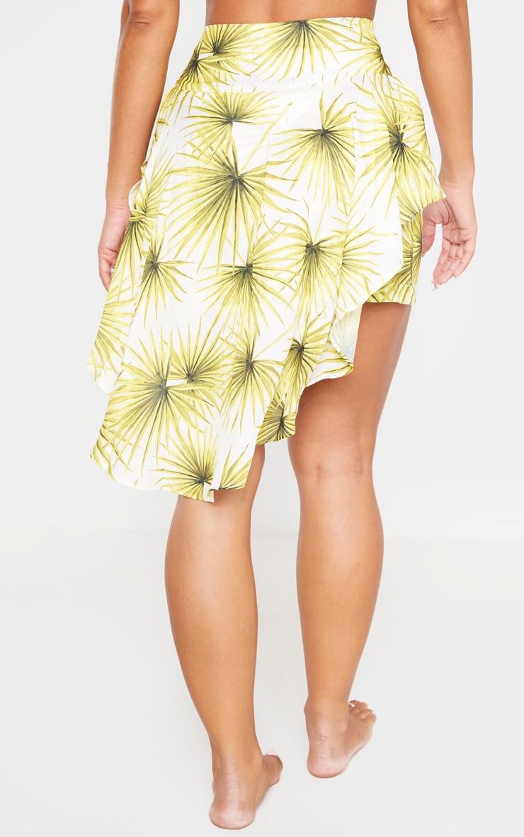 White Frill Waterfall Beach Skirt 2