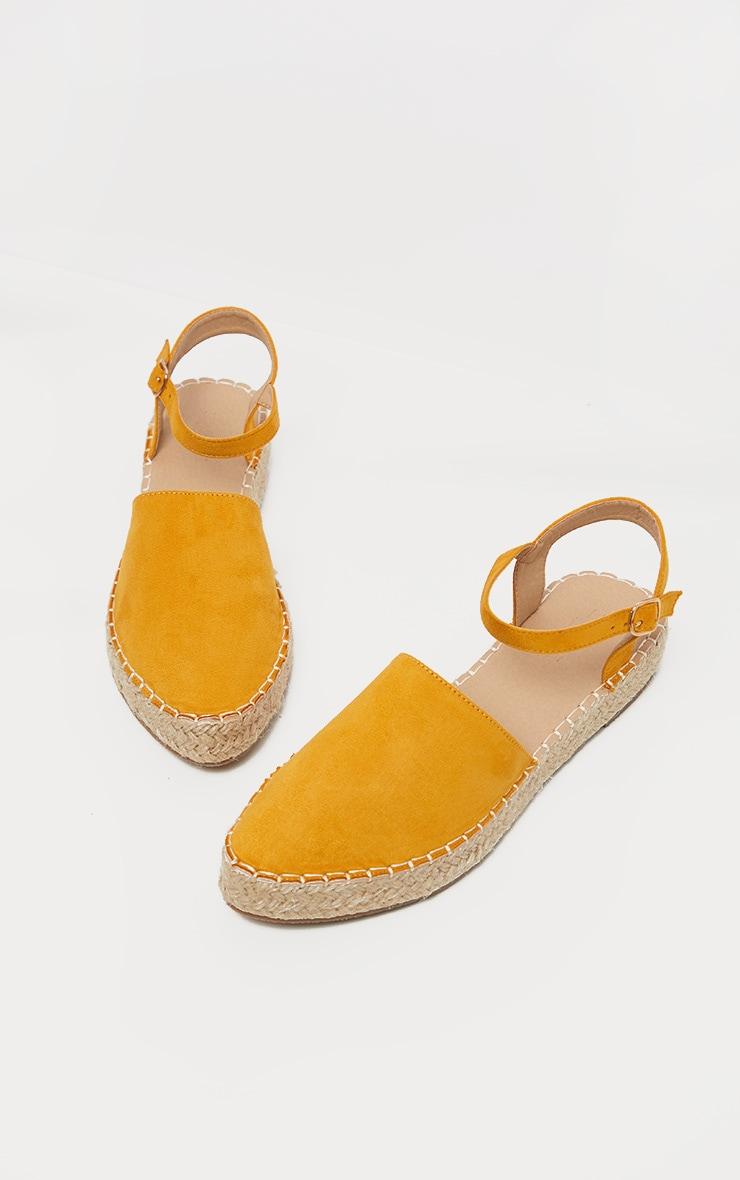 Yellow Espadrille Flat Sandal  3