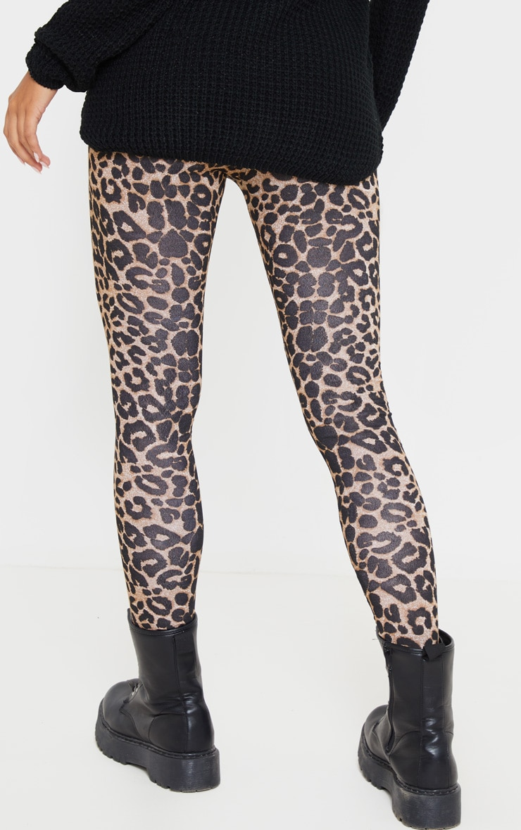 Legging imprimé léopard marron 4