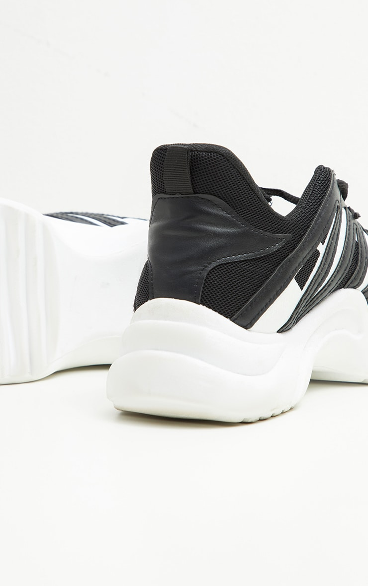 Black Arched Sole Chunky Sneakers 4