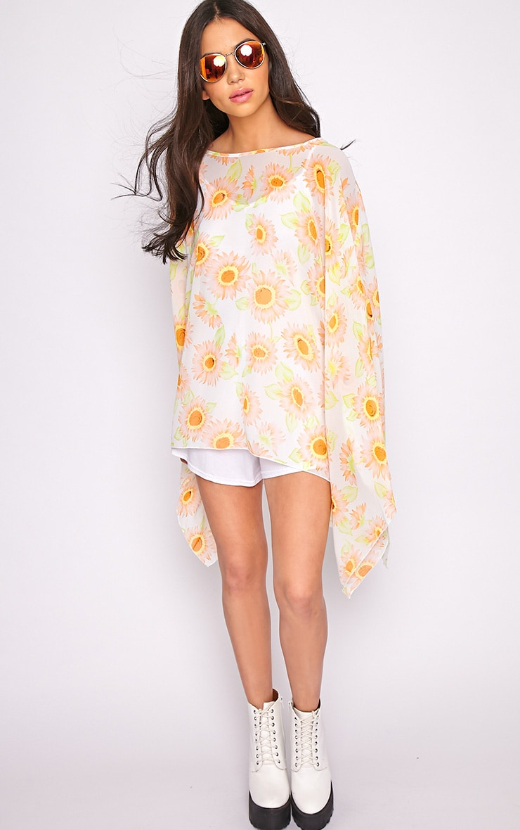 Layla Orange Flower Kaftan 5