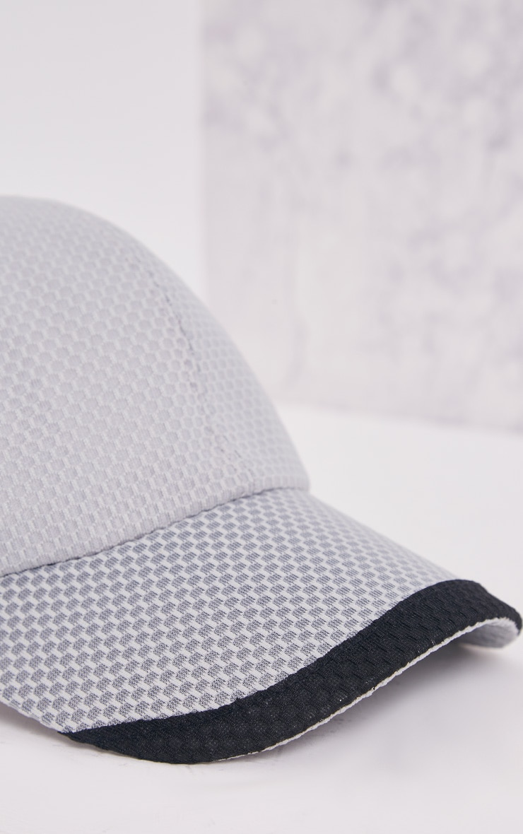 Guila Grey Mesh Baseball Cap 5