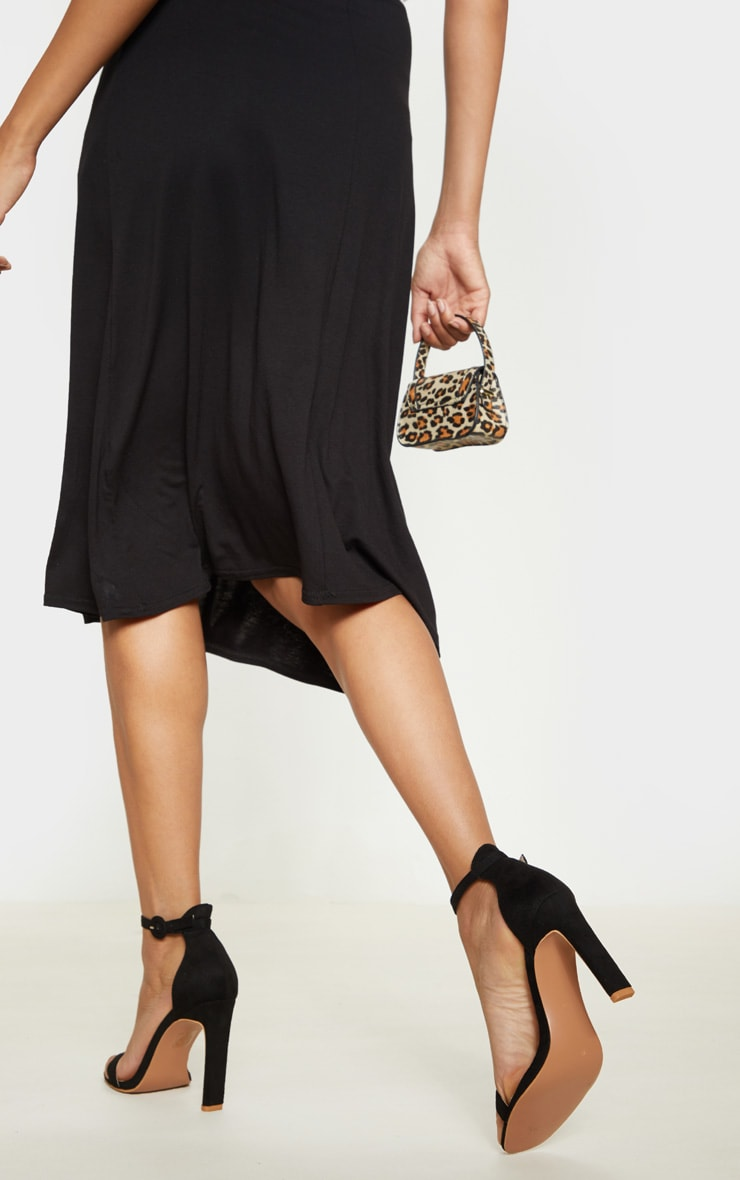 Black Faux Suede Flat Barely There Heel 2