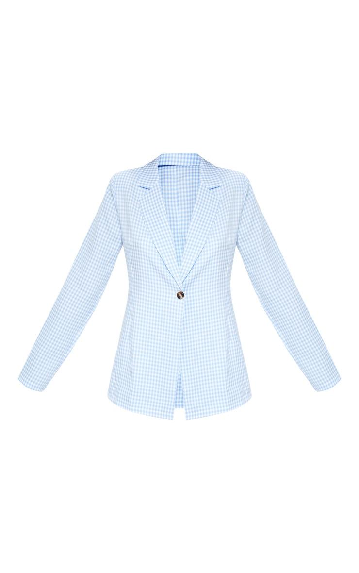 Blue Check Woven Blazer    3
