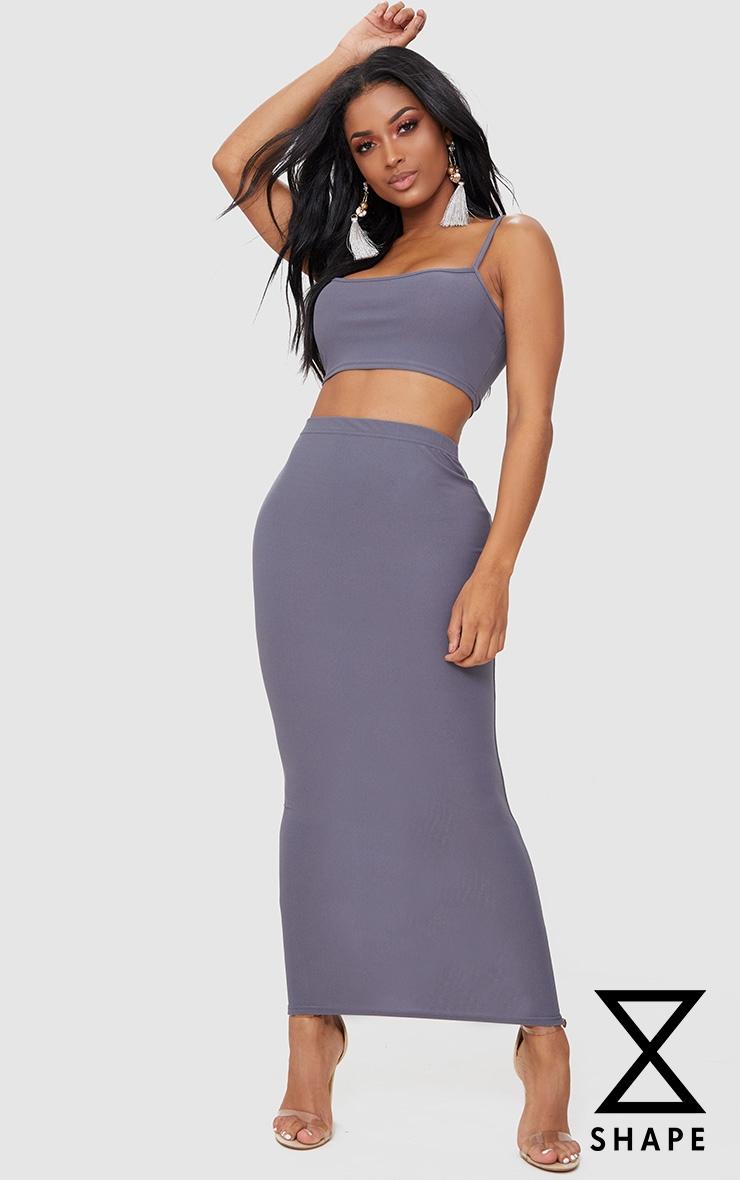 Shape  Charcoal Midaxi Skirt 1