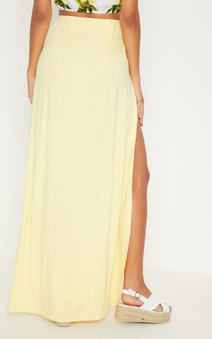 Lemon Double Split Maxi Skirt 4
