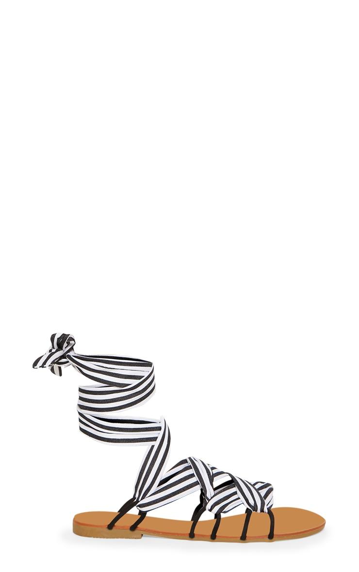 Blue Stripe Ghillie Lace Up Sandal 3