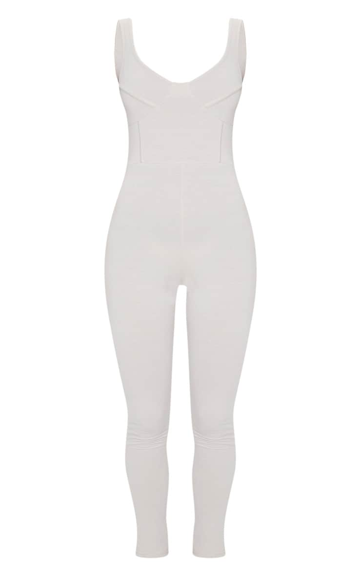 Stone Soft Binding Detail Sleeveless Jumpsuit 5