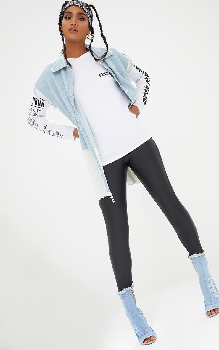 White Free Spirit Slogan Longsleeve T Shirt 4