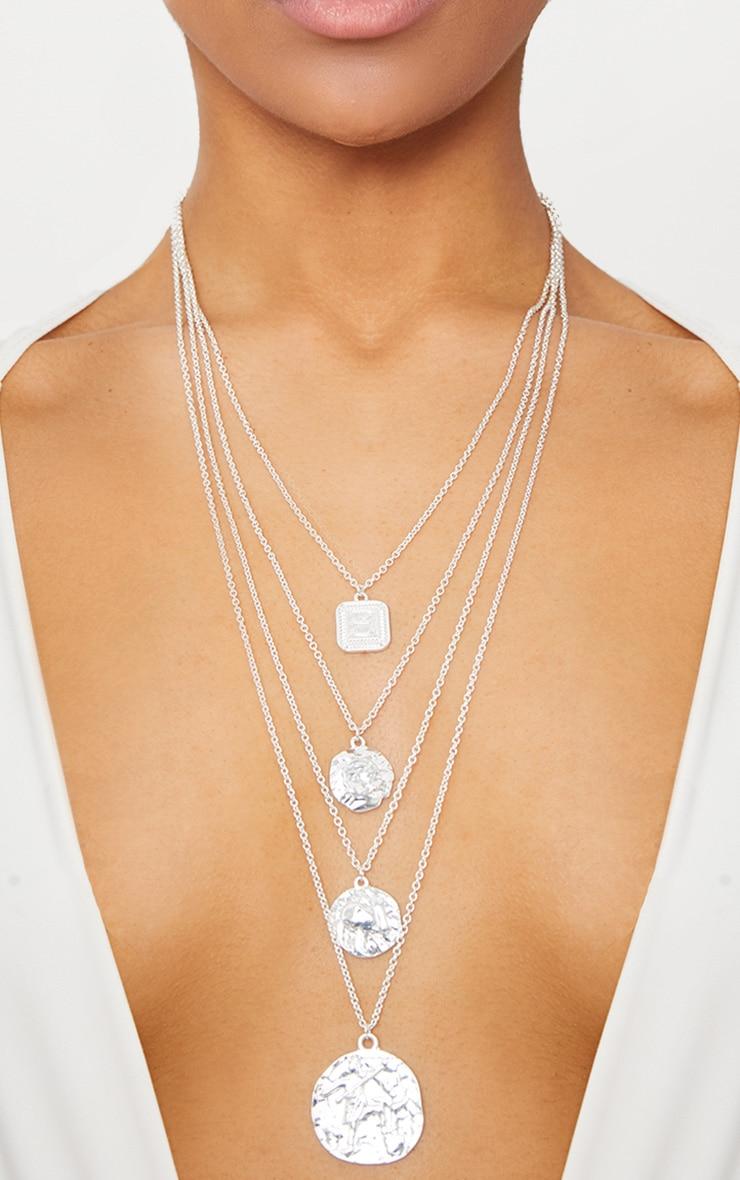 Silver Multi Layer Necklace