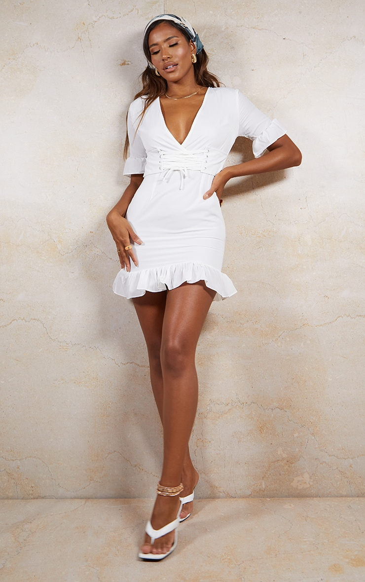 White Corset Swing Dress 3