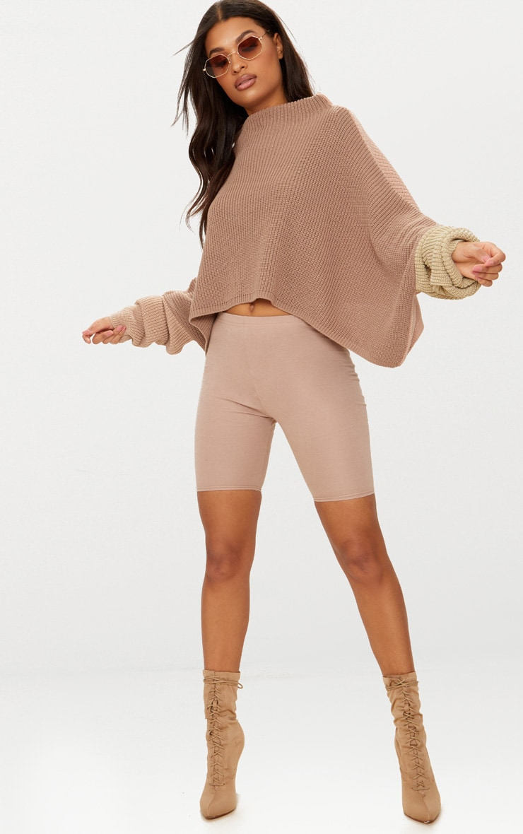 Stone Oversized Colourblock Jumper 1