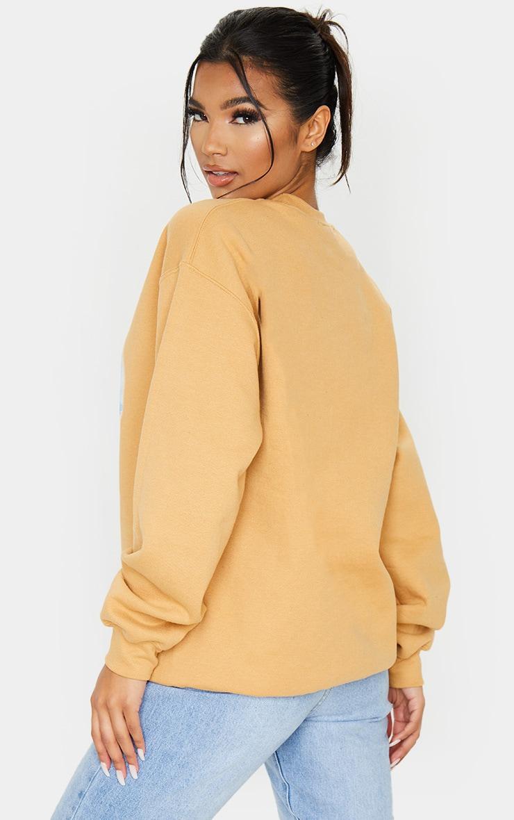 Yellow Tokyo Lights Oversized Printed Sweatshirt 3
