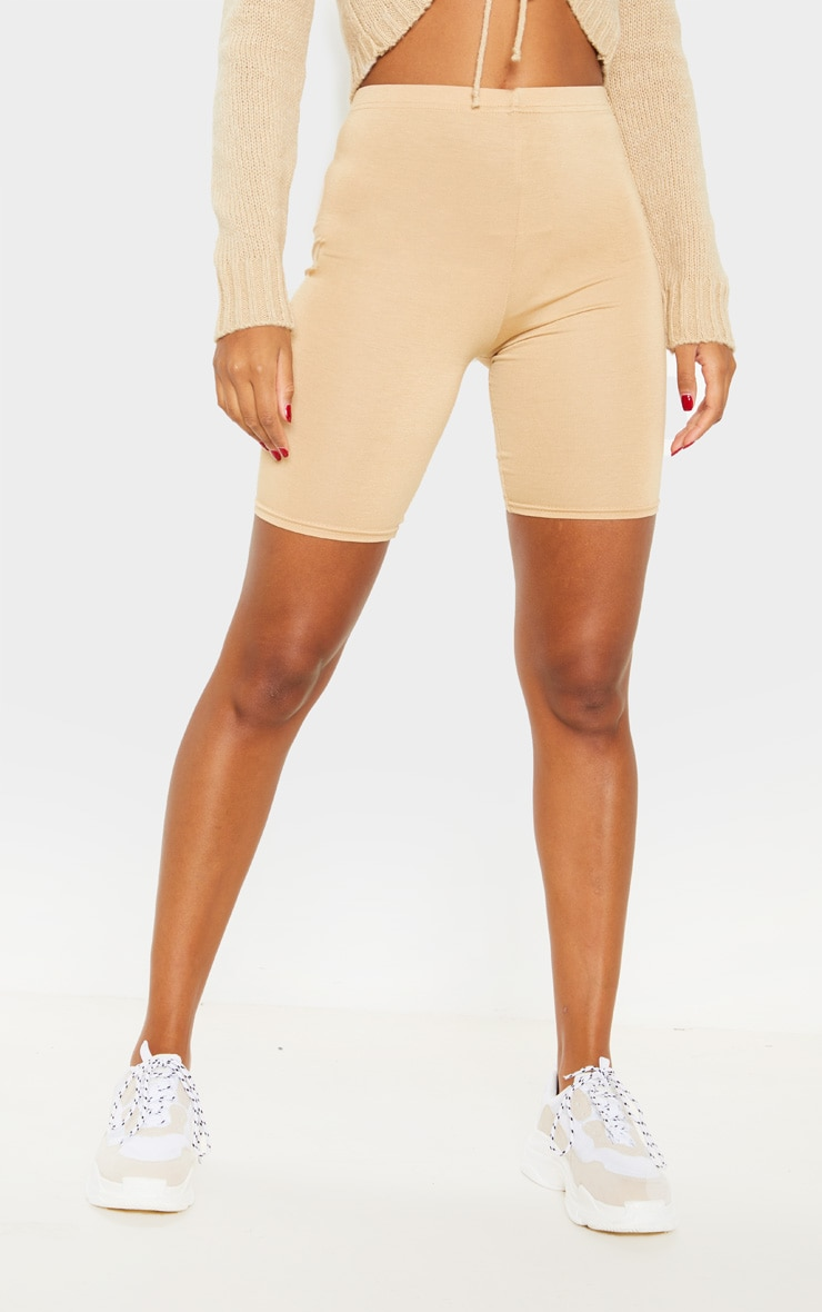 Sage Khaki And Biscuit Basic Bike Short 2 Pack 2