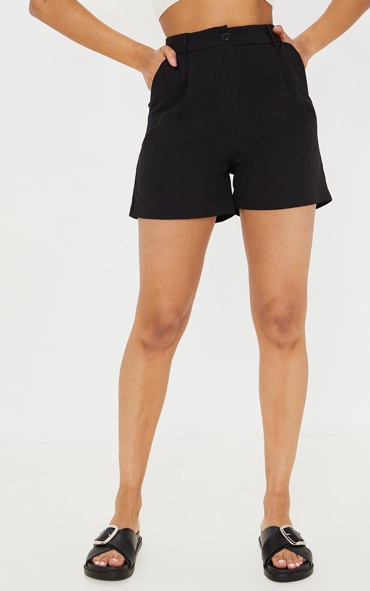 Black Woven Tailored Runner Shorts 2