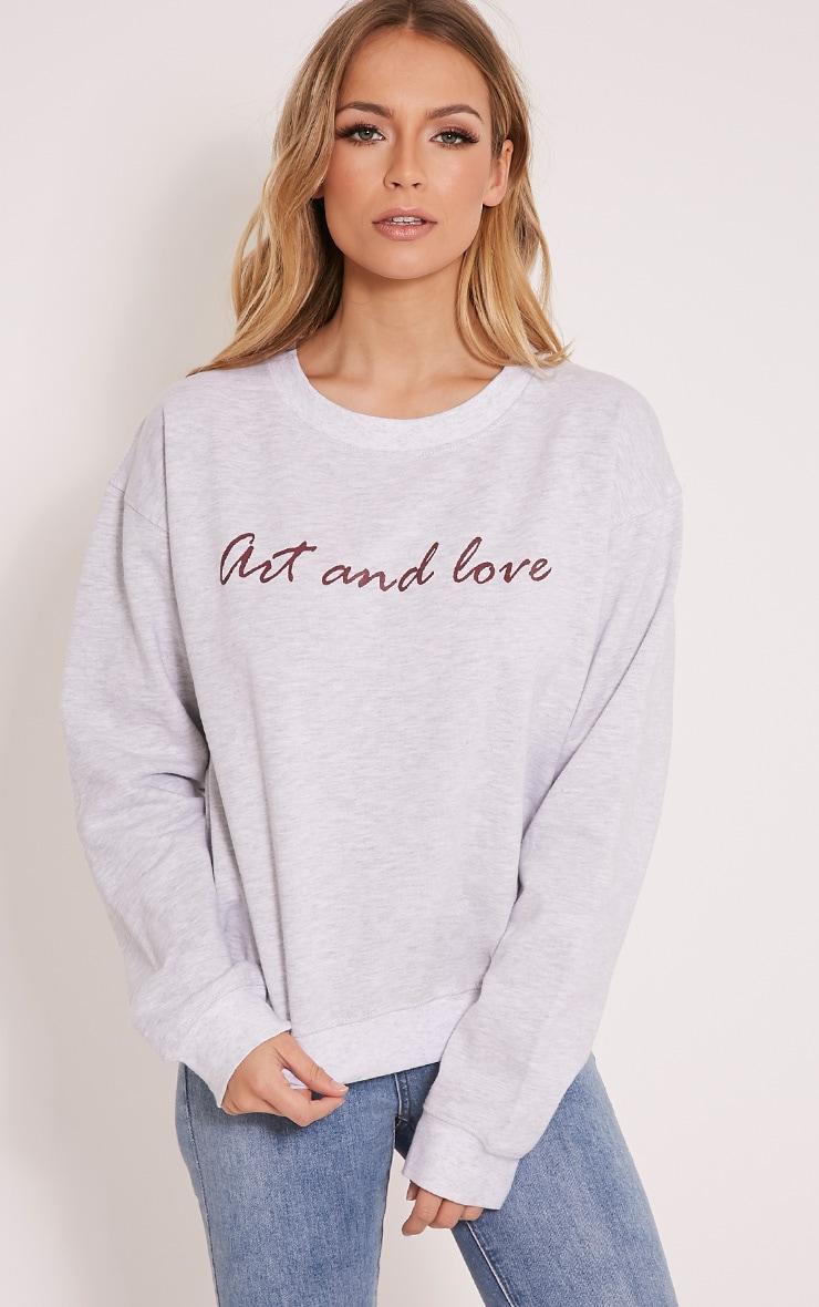 Amber Grey Art & Love Sweatshirt 1