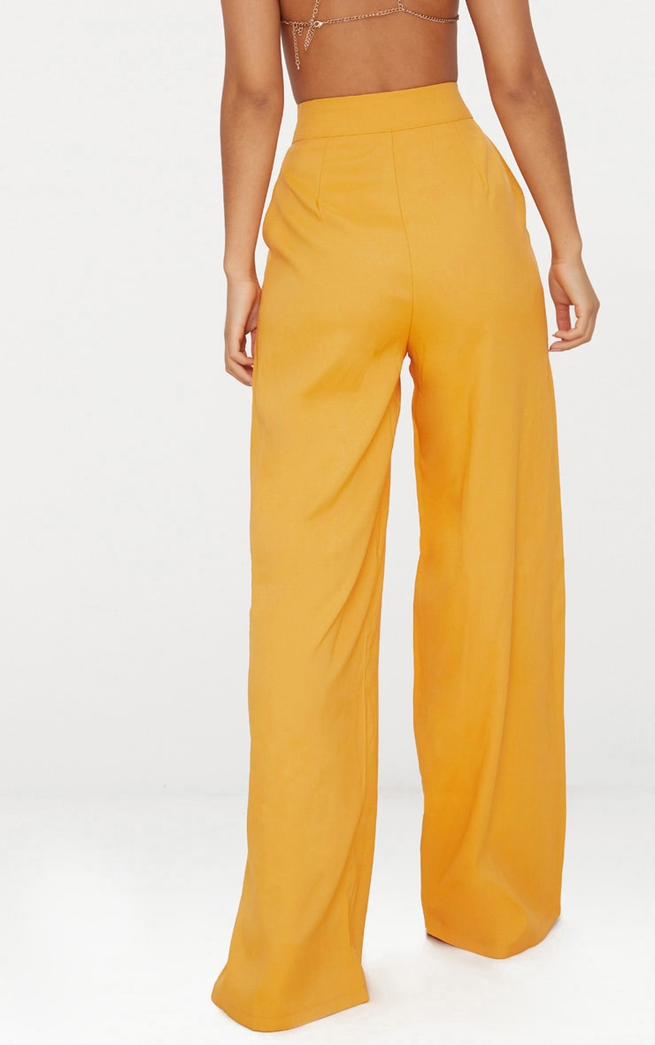 Mustard Wide Leg Suit Trouser  4