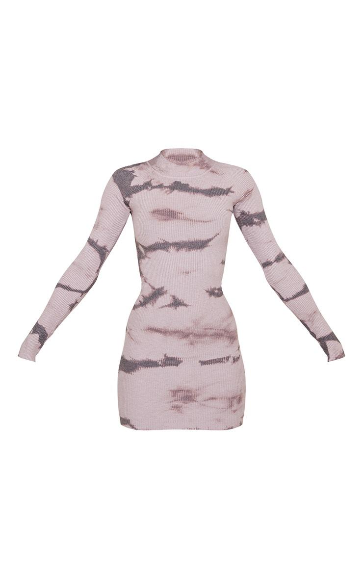 Blush Turtle Neck Tie Dye Knitted Bodycon Dress 6