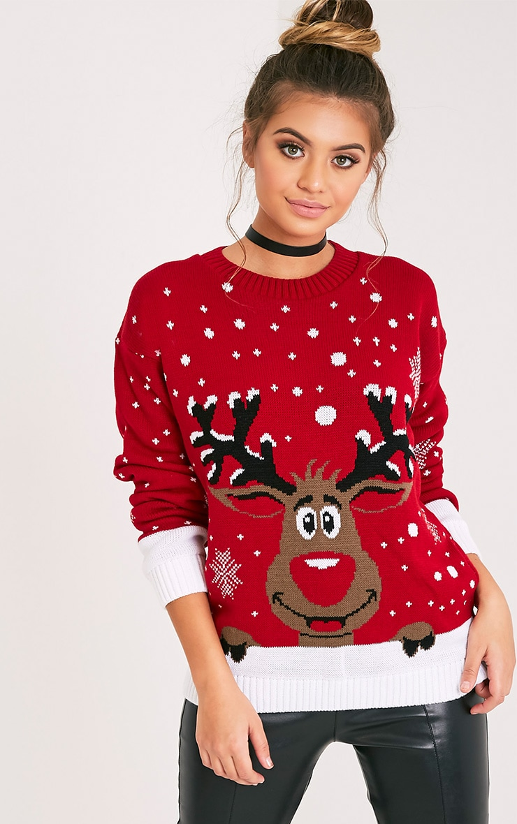 Rudolph Red Christmas Jumper 1
